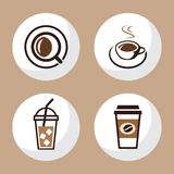 Чашка кофе и чая установила 1 Стоковое Фото