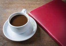 Чашка кофе, книги Стоковое Изображение RF