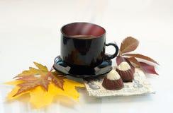 Чашка кофе осени Стоковые Фотографии RF