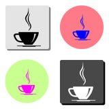 Чашка кофе Плоский значок вектора бесплатная иллюстрация