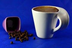 Чашка кофе с зерном молока и семени специй Стоковые Фото