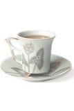 Чашка кофе с молоком Стоковые Изображения RF