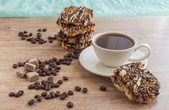Чашка кофе с печеньями Стоковая Фотография