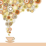 Чашка кофе с флейвором иллюстрация штока