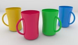 чашка кофе цветастая Стоковая Фотография
