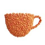 Чашка красных яблок Стоковое фото RF