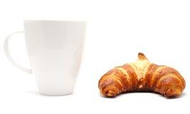 чашка круасанта кофе Стоковые Изображения RF