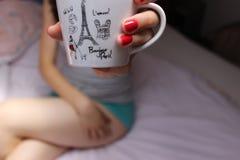чашка милая Стоковое Фото