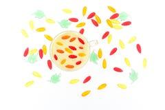 Чашка молока с ягодами и marmelodom Стоковое Изображение