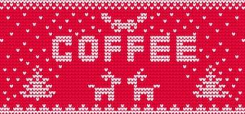 Чашка орнамента coffe вектора вязать Стоковое фото RF