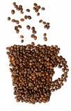Чашка от кофейного зерна Стоковая Фотография