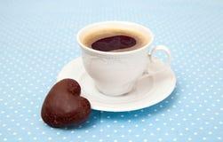 Чашка печенья эспрессо и шоколада Стоковые Фото