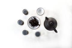 чашка понюшки с черным чаем, gaivan Стоковые Фотографии RF