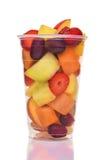 Чашка свежего плодоовощ отрезка Стоковое Фото