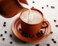 чашка сливк кофе Стоковые Фото