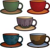 чашка собрания кофе иллюстрация вектора