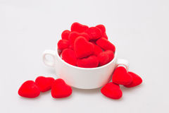чашка супа с валентинкой Стоковые Изображения RF