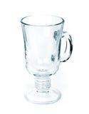 Чашка сделанная из изолированного стекла на белой предпосылке Стоковая Фотография