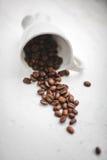 чашка с зернами кофе Стоковое Изображение