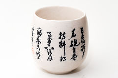 Чашка с китайскими старыми картинами Стоковое Изображение