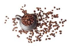 Чашка с кофейными зернами Стоковая Фотография RF