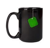 Чашка с пакетиком чая стоковая фотография rf