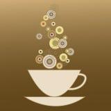 Чашка с питьем кофе иллюстрация вектора