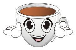 Чашка с руками иллюстрация штока