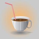 Чашка с соломой Стоковая Фотография RF