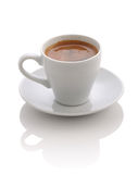 Чашка с эспрессо кофе на белизне Стоковое Изображение