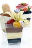 чашка торта цветастая Стоковое Фото