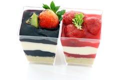 чашка торта цветастая Стоковые Фотографии RF