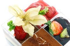 чашка торта цветастая Стоковое фото RF