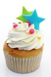 чашка торта цветастая Стоковые Фото