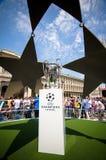 Чашка 2016 трофея лиги чемпионов Стоковое фото RF