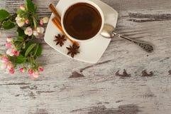 Чашка душистого кофе для завтрака Стоковое фото RF