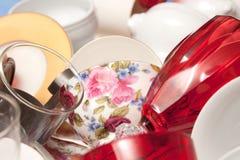 Чашка фарфора украшенная с розами Стоковое фото RF
