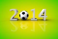 Чашка 2014 футбола футбола мира Бразилии бесплатная иллюстрация