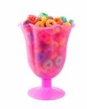 чашка хлопьев цветастая Стоковая Фотография RF