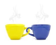 Чашка цвета с горячим питьем Стоковые Изображения RF