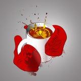Чашка чаю или холодный вечер Иллюстрация штока