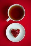 Чашка чаю и сандвич Стоковое фото RF