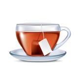 Чашка чаю при изолированный пакетик чая Бесплатная Иллюстрация