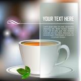 Чашка чаю с абстрактной предпосылкой иллюстрация вектора