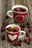 Чашка чаю с cranderry Стоковые Изображения RF