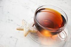 Чашка чая печенья Стоковая Фотография RF