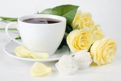 Чашка чая утра Стоковые Фото