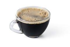 Чашка черного кофе на белой изолированной предпосылке Стоковые Фото