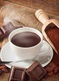 чашка шоколада горячая стоковое изображение