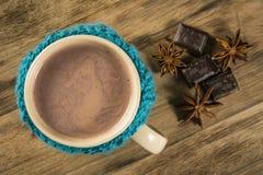 чашка шоколада горячая Стоковое Фото